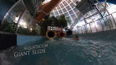 Aquaticum Giant Slide (Yellow Bodyslide, Night) 360° VR POV Onirde Vr, Night, Yellow