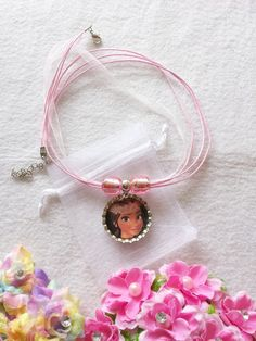 10 Moana Necklaces Party Favors by ArtBows on Etsy