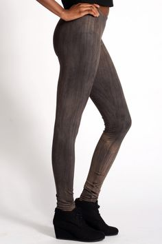 SkinnySweats.com - Skinny Sweats. Lazy, Sexy, Cool. - Stained Wood Leggings