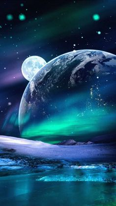 Space Aurora Lights Earth View - iPhone Wallpapers