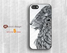 lion IPhone 5s case IPhone 5c case IPhone 5 case by Atwoodting, $7.99