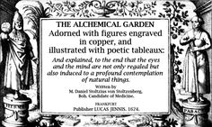At Right Angles to Reality: The Alchemical Garden by Daniel Stolcius [1624] (English)