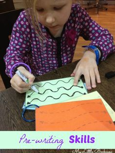 Pre writing busy bag activity