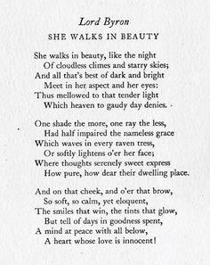 //she walk in beauty...