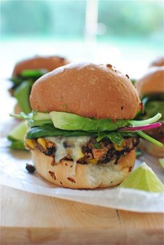 Chipotle Black Bean Burgers | http://bevcooks.com | #meatless #vegetarian