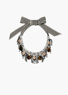 Shop Women's Mango Necklaces on Lyst. Track over 729 Mango Necklaces for stock and sale updates. Mango Necklace, Bow Necklace, Beaded Necklace, Women Jewelry, Unique Jewelry, Fall Winter 2015, Jewelry Necklaces, Bows, My Style