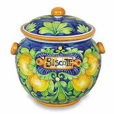 Ornato Biscotti Jar - Lemons  Reminds me of the Amalfi Coast/Ravello---Everything Limone!!
