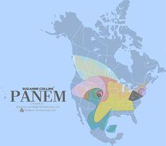 nette Karten-Darstellung von Panem