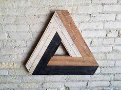 Recuperado arte de pared de madera decoración listón