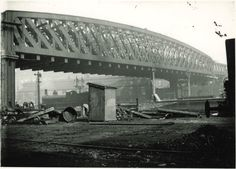 GCR bridge being built across the Midland Station (where tram bridge now built! Nottingham Station, Nottingham City, Steam Railway, Old Trains, Exeter, Sydney Harbour Bridge, Natural Disasters, Train Station, Bridges