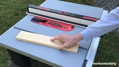 The Jobsite Saw PRO has a wider table, a new dust-control port, and a more versatile fence, along with the same reliable safety mechanism included in all SawStop tablesaws. Home Building Tips, Building A Deck, Clapboard Siding, Shed Dormer, Cork Tiles, Raised Panel Doors, Cedar Shingles, Door Kits, Secret Rooms