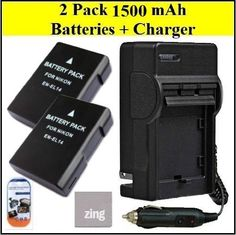 Battery And Charger Kit for Nikon Coolpix P7700 D3100 D3200 D5100 D5200 Digital SLR Camera Includes Qty 2 EN-EL14 Replacement Batteries + AC/DC Charger + LCD Screen Protectors + Micro Fiber Cleaning Cloth by Big Mike's. $39.99. Bring your digital camera back to life with a new battery. Make sure you never miss another once-in-a-lifetime moment by having a new, EN EL14 battery specifically designed for your Nikon D3100 D3200 D5100 digital SLR camera. ENEL14 rechargeable batterie...
