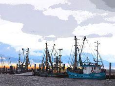'Im Hafen von Schlüttsiel' von Dirk h. Wendt bei artflakes.com als Poster oder Kunstdruck $18.03