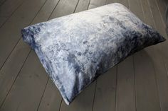 Hand Painted Cushion Indigo by VIVIDGREY made in Austria on CROWDYHOUSE