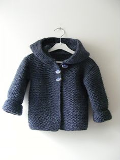 hooded baby jacket - pattern by Mme Bottedefoin