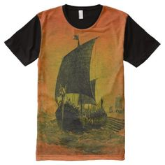 Shop Full Print Viking Ship Shirt created by odinwar. Personalize it with photos & text or purchase as is! Viking Shirt, White Shop, Pink And Green, Vikings, Shop Now, Kids Shop, Mens Tops, T Shirt, Ship