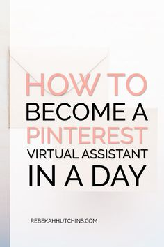 Become a Pinterest virtual assistant and start your online business in less than a day! From the kinds of services you can offer to tips and tools, this post will help you determine if becoming a Pinterest VA is right for you. Click through to start your Pinterest VA journey today! #entrepreneur #onlinebusiness #startup