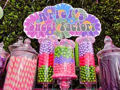 1st birthday... sweet factory. love the colors