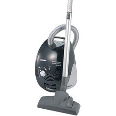 Home Cleaning: Siemens Vacuum Cleaner // It is very common to find canister vacuums in Germany instead of the uprights that we are used to in the US. This compact design is especially helpful in homes with multiple & narrow stairways. Don't forget to grab replacement vacuum bags on your way out to the checkout counter.