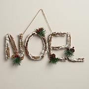 Glittered Twig Peace Wall Décor | Pine needles, Pinecone and Holidays