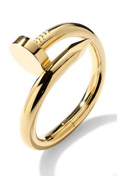 "cartier juste en clou ""just a nail"" ring. This will be in my dreams tonight"