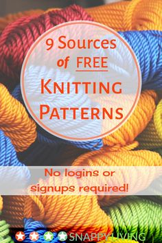 Free Knitting Pattern Websites ☀️