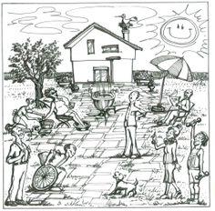 illustrazione per la casa di riposo CASAVIVA