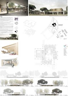 Gallery of BAAS + Synopsys, second place in university nursery competition / France – 10 – Entwerfen Layout Architecture Concept Drawings, Architecture Panel, Japanese Architecture, Architecture Design, School Architecture, Architecture Colleges, Architecture Diagrams, Presentation Board Design, Architecture Presentation Board