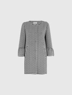 Houndstooth coat, black - Marella