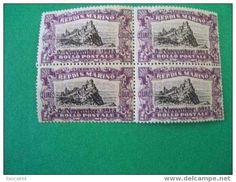 SAN MARINO B10 mnh block overprinted 1918 PRO COMBATTENTI