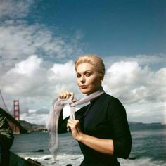 Kim Novak on the set of Vertigo, 1958.