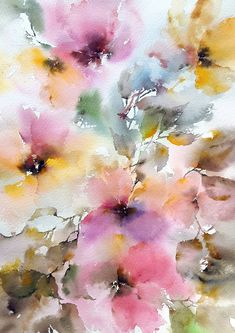 9 Sensible Clever Ideas: Interior Painting Techniques The Wall interior painting canvas wall art.Interior Painting 2019 interior painting techniques the wall. Abstract Flowers, Watercolor Flowers, Abstract Flower Art, Abstract Nature, Watercolour Painting, Painting & Drawing, Watercolors, Painting Doors, Interior Painting