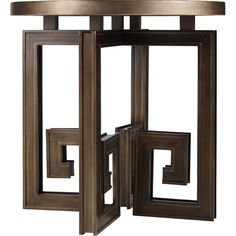 Topped With A Distressed Mirror, This Wood End Table Looks Chic Reflecting  Light From A