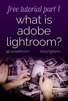 FREE 6-part Adobe Lightroom tutorial. In this guide, you'll learn all of the basics to get started editing photos in Adobe Lightroom, and make your photos look amazing!