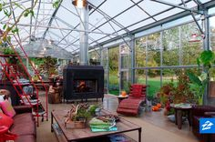 Enjoy the beautiful fall weather from the comfort of your very own greenhouse.