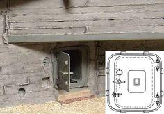 DOLP - Modellbau, Top, Shop, Bunker Zubehoer 1/35, BZ 3533 - Bunkertuer mit Rahmen 11 P7 Metallbausatz - Bunkerzubehuer 1/35