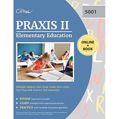 Imagine a study guide actually made for teachers! Because we know your life is busy, we created a study guide that isn't like other books out there. With Cirrus Test Prep's unofficial Praxis II Elementary Education Multiple Subjects 5001 Study Guide 2019-2020: Test Prep with Practice Test Questions you get a quick but full review of everything tested on your certification exam. FREE online resources are also included with your study guide! Imagine having FREE practice questions, online flash car Praxis Test, Praxis Study, Study Test, Teacher Certification, Be My Teacher, Test Preparation, Elementary Education, Free Reading, Reading Online
