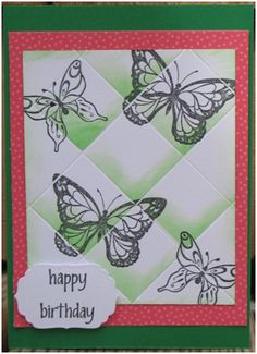 Simple Butterflies Card Using the Faux Tile Technique - Think Crafts by CreateForLess
