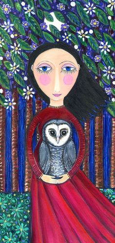 Hibou Dream Series Print by LindyLonghurst on Etsy