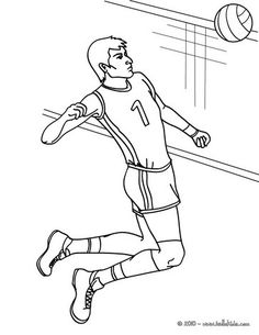 Nice Volleyball Coloring Page More Sports Pages On Hellokids