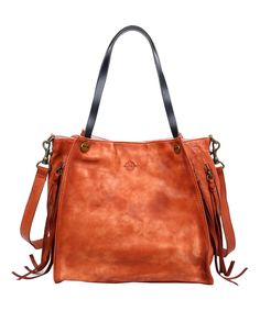 Look at this OLD TREND Cognac Daisy Leather Tote on #zulily today!