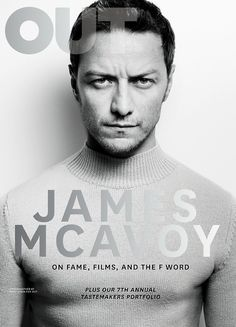 OUT magazine, October 2014. James McAvoy photographed by Matt Irwin//