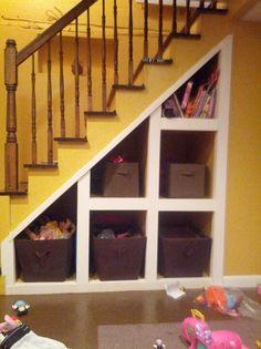Under the stairs storage!