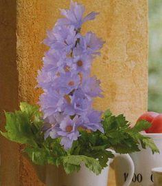 Edible bouquets – Delphinium vegetable flowers
