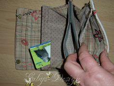 Geldbörse von innen - mit 8 Kartenfächern und einem Kleingeldfach.