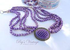 Vintage Fabulousness. .     https://www.etsy.com/listing/233827901/antiquevintage-multi-strand-purple-glass