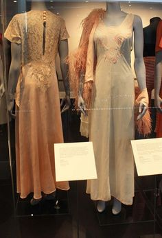 """Dressing Gowns and Chemise at the lingerie exhibition """"Undressed: 350 Years of Underwear in Fashion"""""""