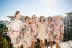 Set of 6 Bridesmaid Robes, Satin Bridesmaid robes, Bridesmaid gifts, Kimono robe, Bridesmaid gift ideas