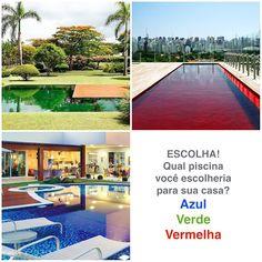 Faça sua escolha! Queremos saber qual piscina você escolheria para sua casa! A clássica Azul a moderna Verde ou a ousada Vermelha? Deixe sua opinião!  #ulishop #ulishopblog #arquitetura #arquiteto #architect #instaarch #architecture #archilovers #decor #decoração #design #decorador #designinteriores #inspiração #casa #home #homeideas #instahome #construção #reforma #revestimento #acabamento #piscina #enquete #pastilha