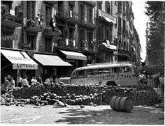 Barcelona 19 julio 1936 på Ramblaen